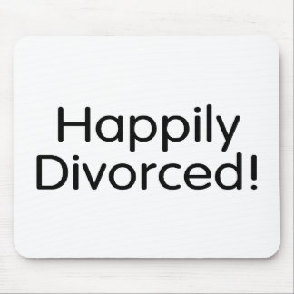 Divorciado feliz tapetes de raton
