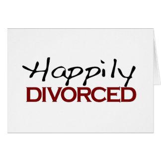 Divorciado feliz tarjeta de felicitación