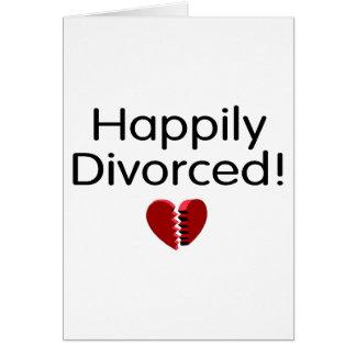 Divorciado feliz tarjeta