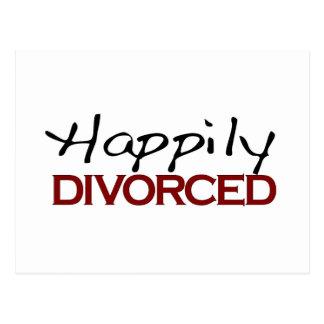 Divorciado feliz tarjeta postal