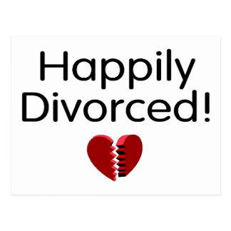 Divorciado feliz postales