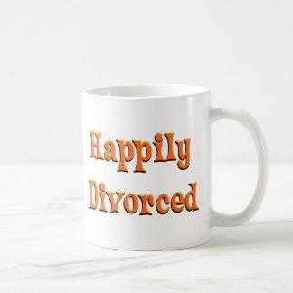 Divorciado feliz tazas de café