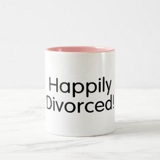 Divorciado feliz taza