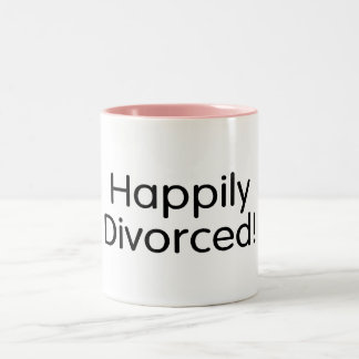 Divorciado feliz taza de dos tonos