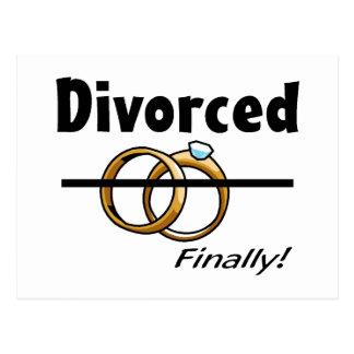 Divorciado finalmente postales