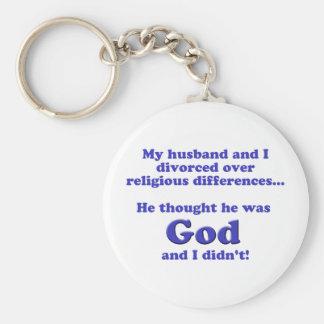 Divorciado Llavero Redondo Tipo Pin