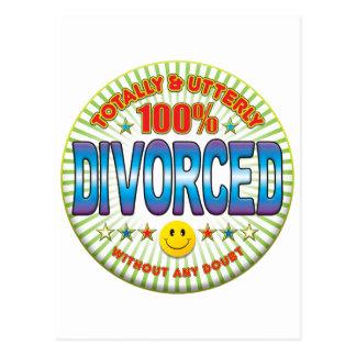 Divorciado totalmente postal