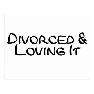 Divorciado y amándolo tarjeta postal