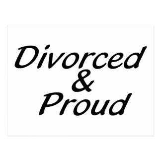 Divorciado y orgulloso postales
