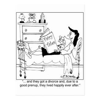 Divorciado y vivido feliz siempre después tarjetas postales