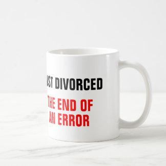 Divorciarse el final de un error taza