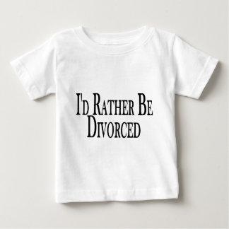 Divorcíese bastante playera de bebé