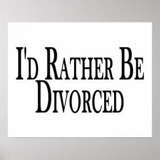 Divorcíese bastante póster