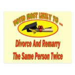 Divorcíese y cásese tarjetas postales