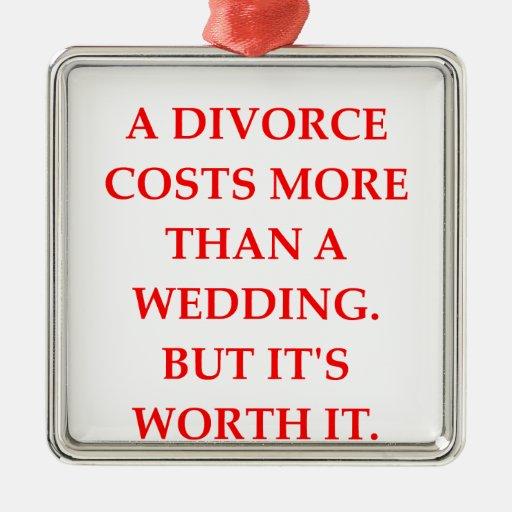 divorcio adorno cuadrado plateado