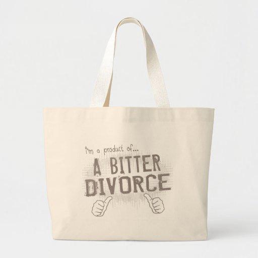 divorcio amargo bolsa tela grande