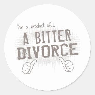 divorcio amargo pegatina redonda
