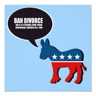 """Divorcio de la prohibición - el infierno es eterno invitación 5.25"""" x 5.25"""""""