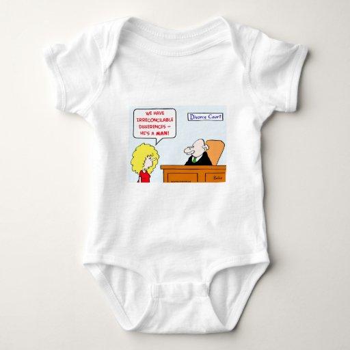 divorcio de las diferencias irreconciliables body para bebé