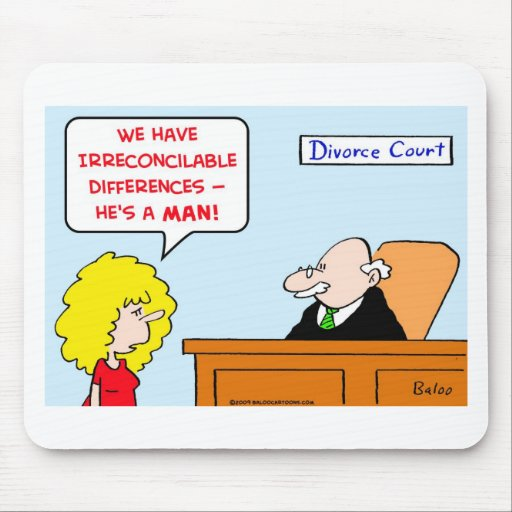 divorcio de las diferencias irreconciliables tapetes de ratones
