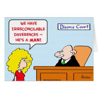 divorcio de las diferencias irreconciliables tarjeton