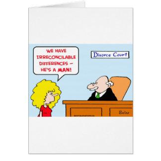 divorcio de las diferencias irreconciliables felicitacion