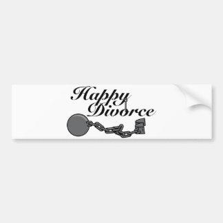 ¡Divorcio feliz! Etiqueta De Parachoque