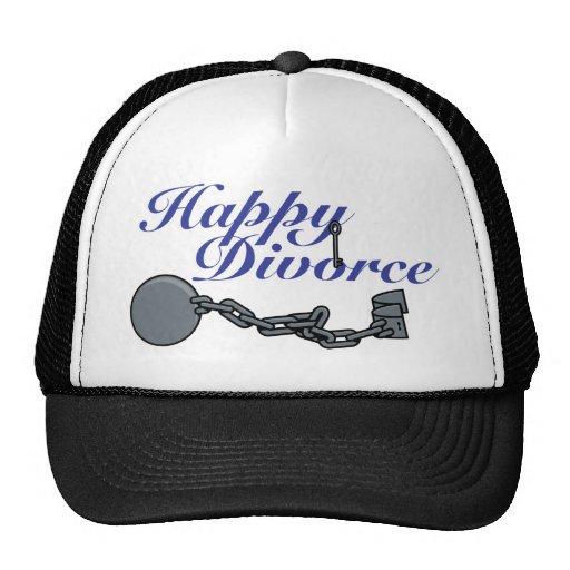 Divorcio feliz gorro de camionero