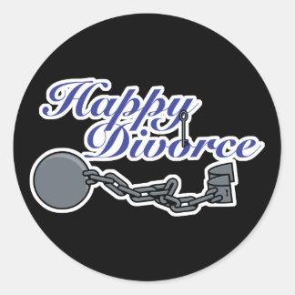 Divorcio feliz pegatina redonda