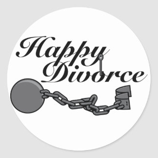 ¡Divorcio feliz! Pegatina Redonda