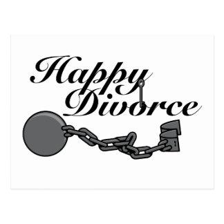 ¡Divorcio feliz! Postal