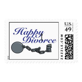 Divorcio feliz sello