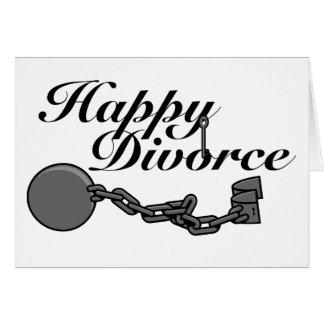 ¡Divorcio feliz! Tarjeta De Felicitación