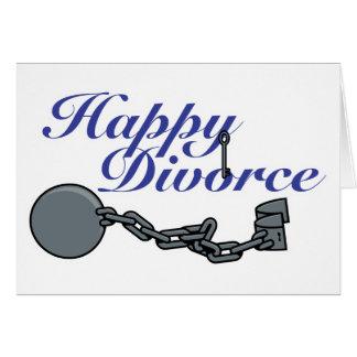 Divorcio feliz tarjetas