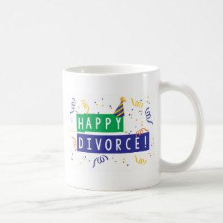 Divorcio feliz taza de café