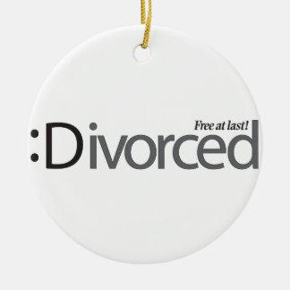 DIVORCIO - libere en el último Adorno Navideño Redondo De Cerámica