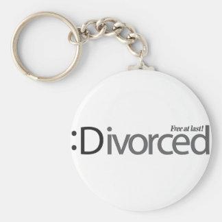 DIVORCIO - libere en el último Llavero Redondo Tipo Pin