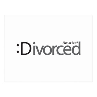 DIVORCIO - libere en el último Tarjetas Postales
