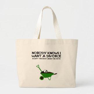 Divorcio oscuro del humor bolsas