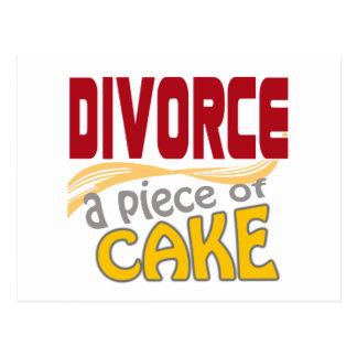 Divorcio - pedazo de torta tarjetas postales
