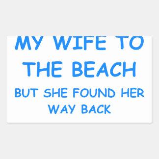 divorcio pegatina rectangular