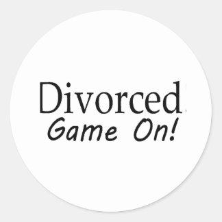 Divorcio Pegatina Redonda