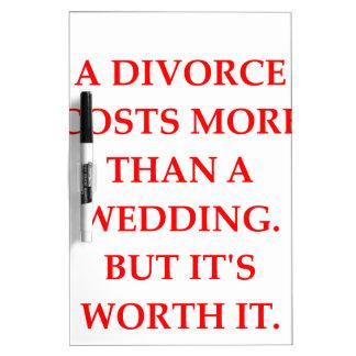 divorcio tablero blanco
