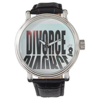 Divorcio que empequeñece al pequeño hombre relojes