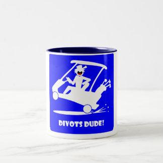 Divots DUDE-4 Two-Tone Coffee Mug