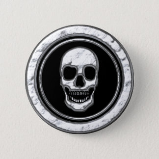 DIVOTTED CHROME SKULL BUTTON