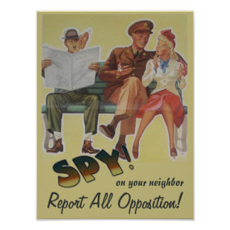 Divulgue a toda la oposición la sátira política póster