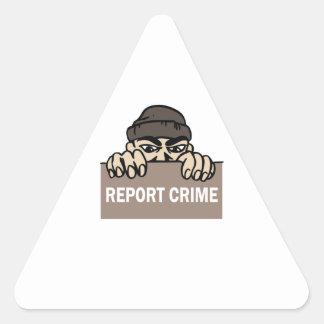 DIVULGUE EL CRIMEN PEGATINA TRIANGULAR