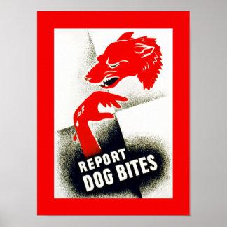 Divulgue las mordeduras de perro póster