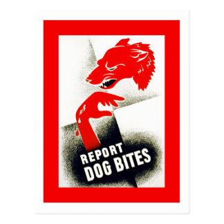 Divulgue las mordeduras de perro tarjetas postales